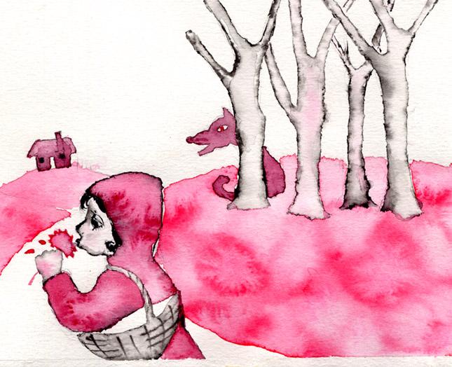 ilustracion caperucita, claudia vidal diseñadora