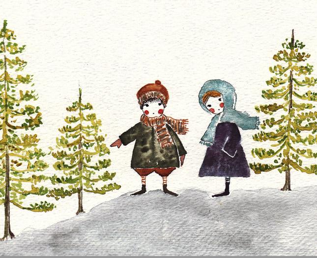 ilustracion niños canada, claudia vidal diseñadora