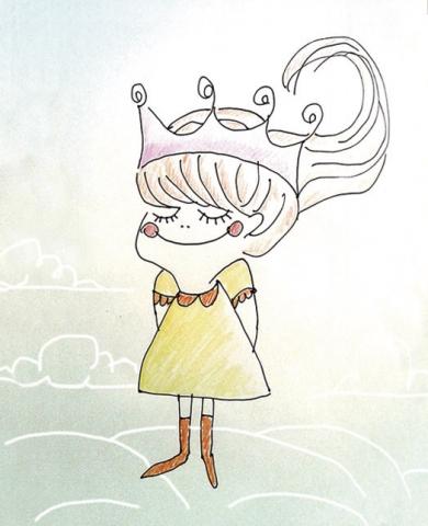 ilustracion princesa, claudia vidal diseñadora
