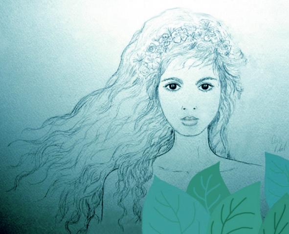 ilustracion sirena, claudia vidal diseñadora
